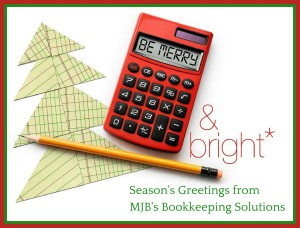 Season's Greetings from MJB's Bookkeeping Solutions